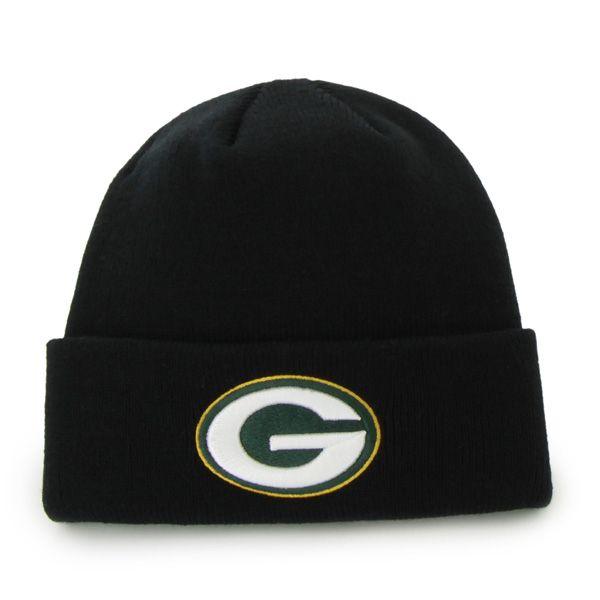 Green Bay Packers Raised Cuff Knit Black 47 Brand Hat Green Bay Packers 47 Brand Black Cuff
