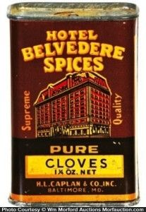 Breakfast cheer coffee broom holder | vintage tins: spice and.