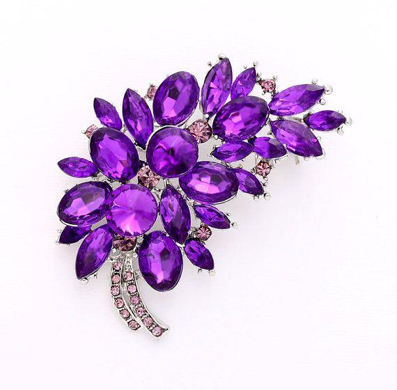 Purple Brooch Piece