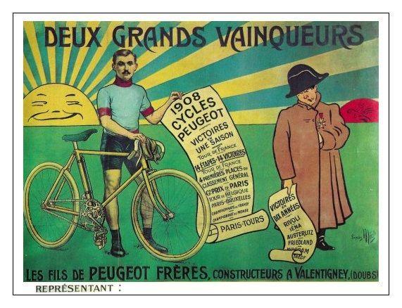 1908 Mich Deux Grands Vainqueurs Fahrrad