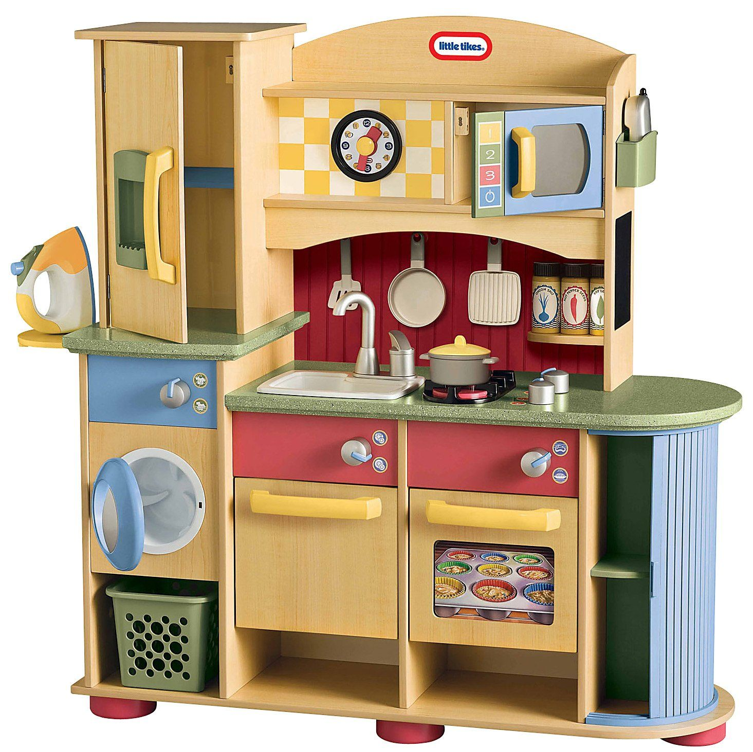 Nice Little Tikes Deluxe Wooden Kitchen And Laundry Center