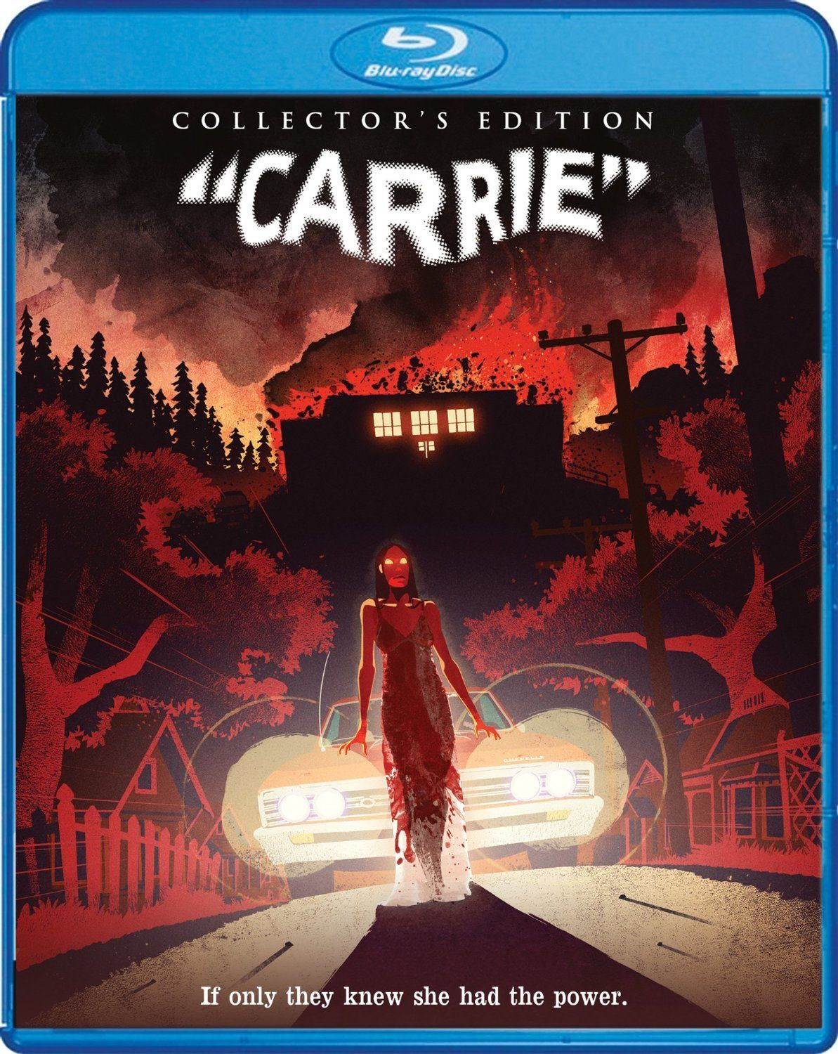 Carrie Bluray Collector's Edition Horror movie art