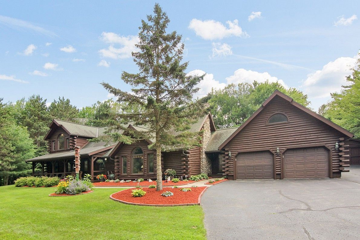 A beautiful log home in a spacious northwoods setting just