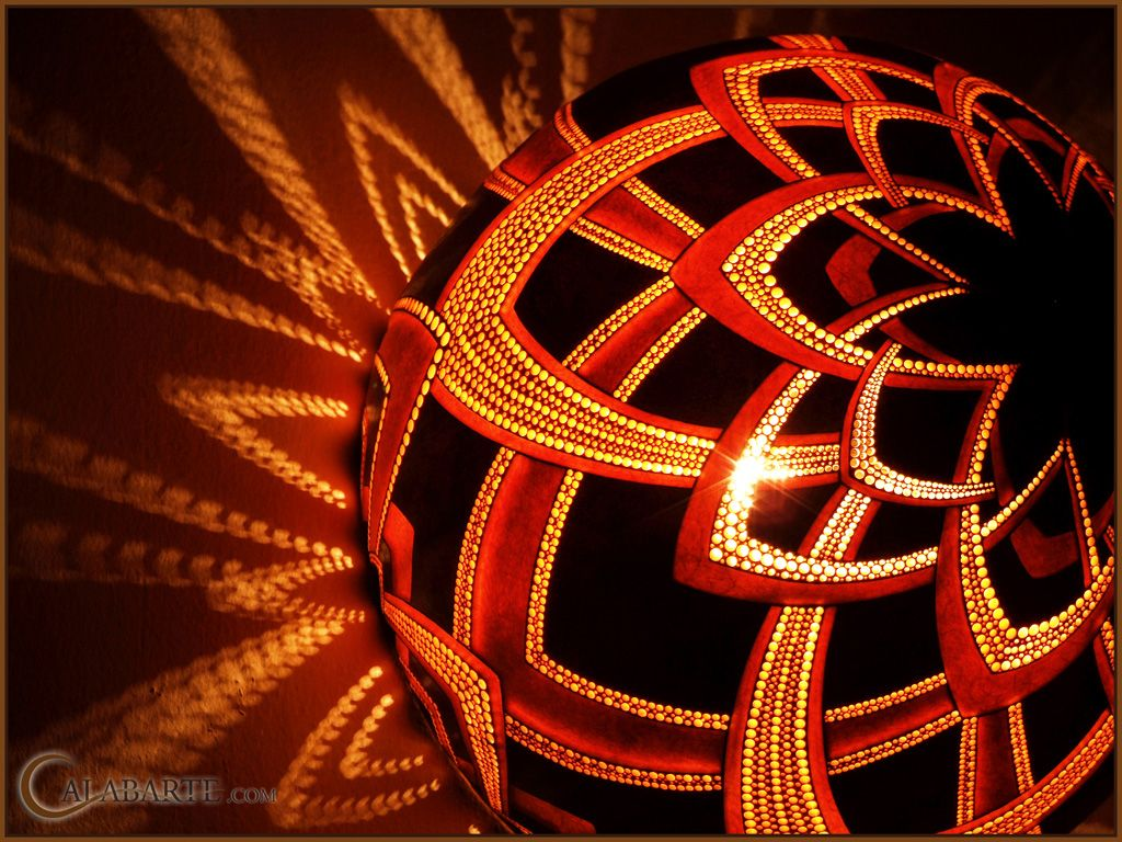 Gourd lamp bracket V night 3 by Calabarte.deviantart.com on @DeviantArt
