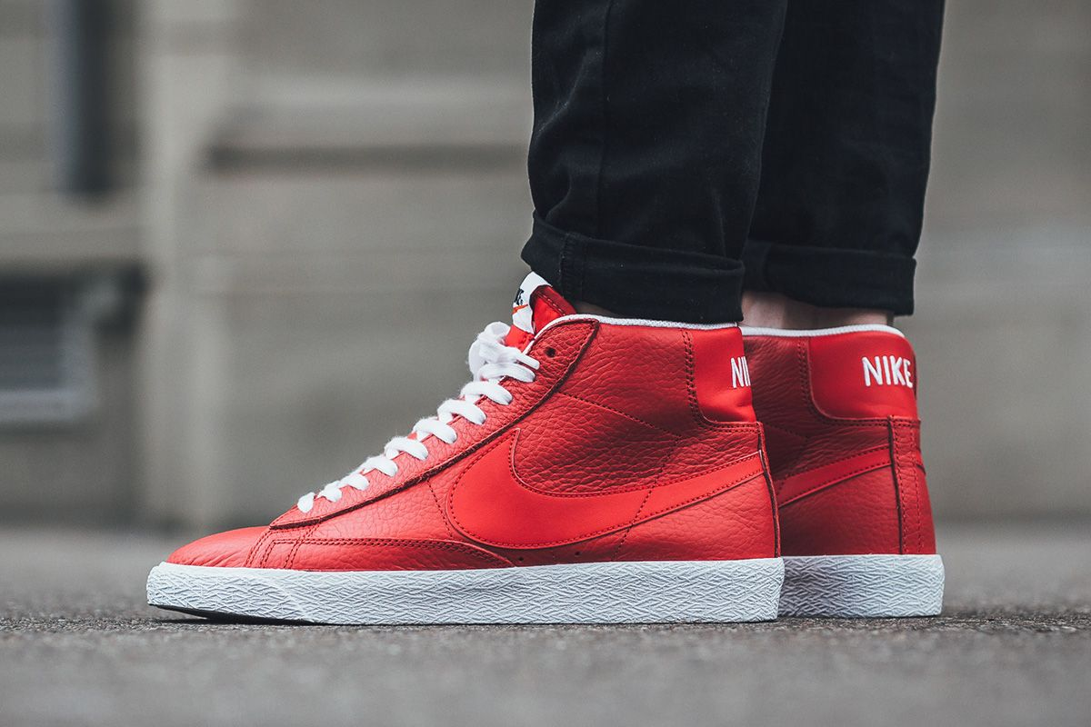 nike blazer red highlights