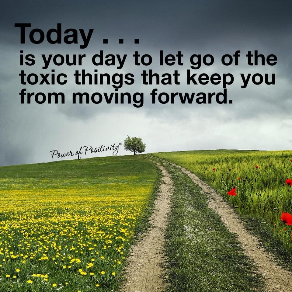 Today... is your day to let go of the toxic things that keep you from moving forward.  #powerofpositivity #positivewords #positivethinking #inspiration #quotes
