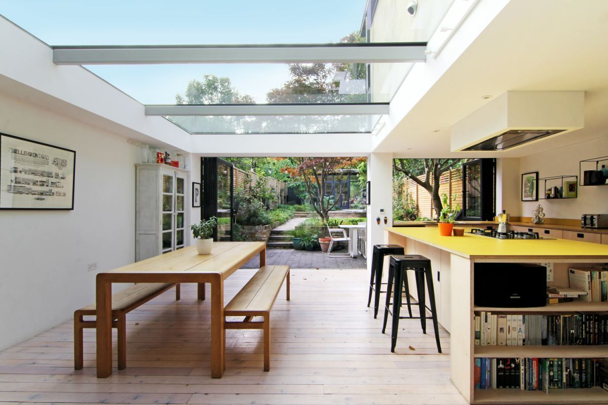 London House Extension With Skylights And Huge Windows#extension #house #huge #london #skylights #windows