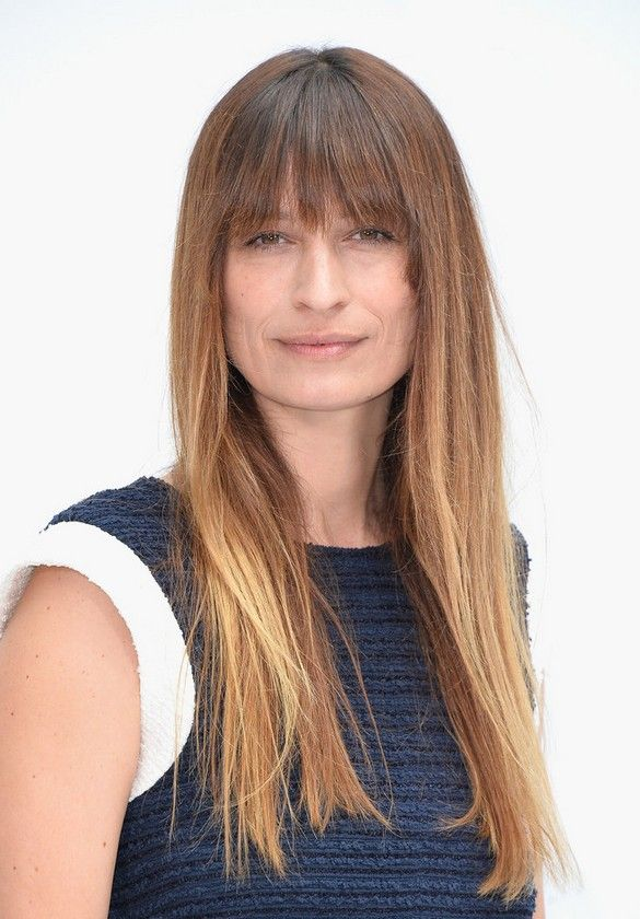 balayage hair color with bangs straight - Google Search