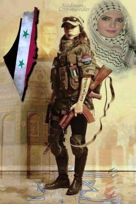 Z Syrian Arab Army Girl Army Girl Female Soldier Army