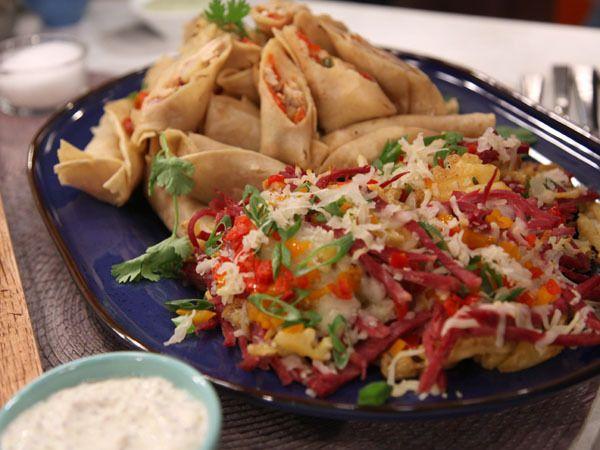 chef guy fieri irish nachos taquitos sounds good recipes yummies pinterest irish. Black Bedroom Furniture Sets. Home Design Ideas
