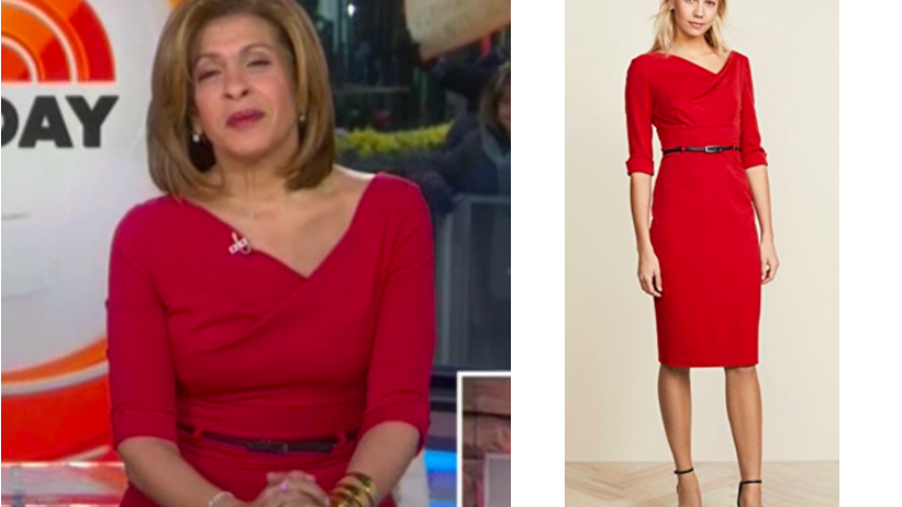 d03e12026509a2 Get details on Hoda Kotb s Red Asymmetrical Dress here  https