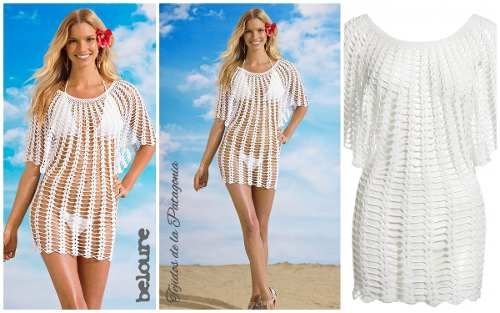 jc salidas de playa on Pinterest | Cover Up, Beach Skirt and Crochet