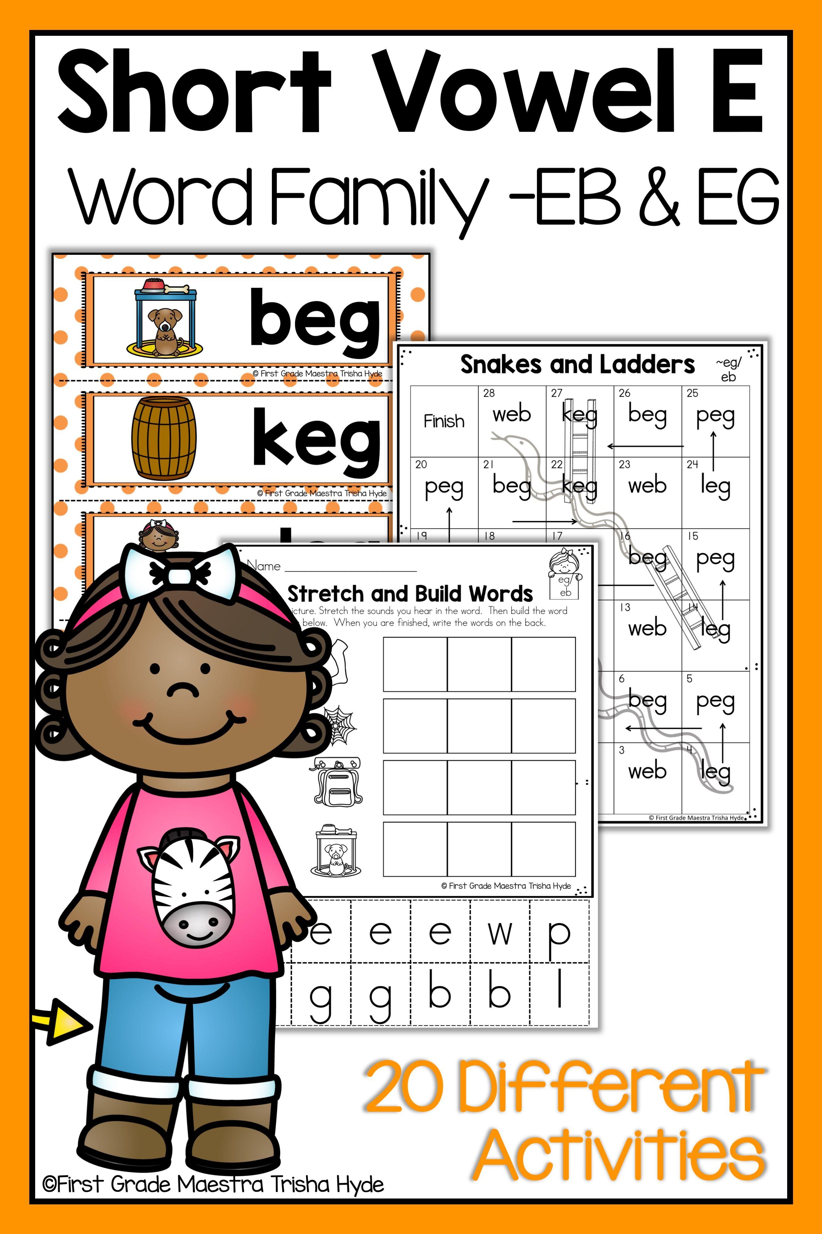 Short Vowel E Word Family Eb Eg Word Families Ccvc Words Words [ 4000 x 2667 Pixel ]