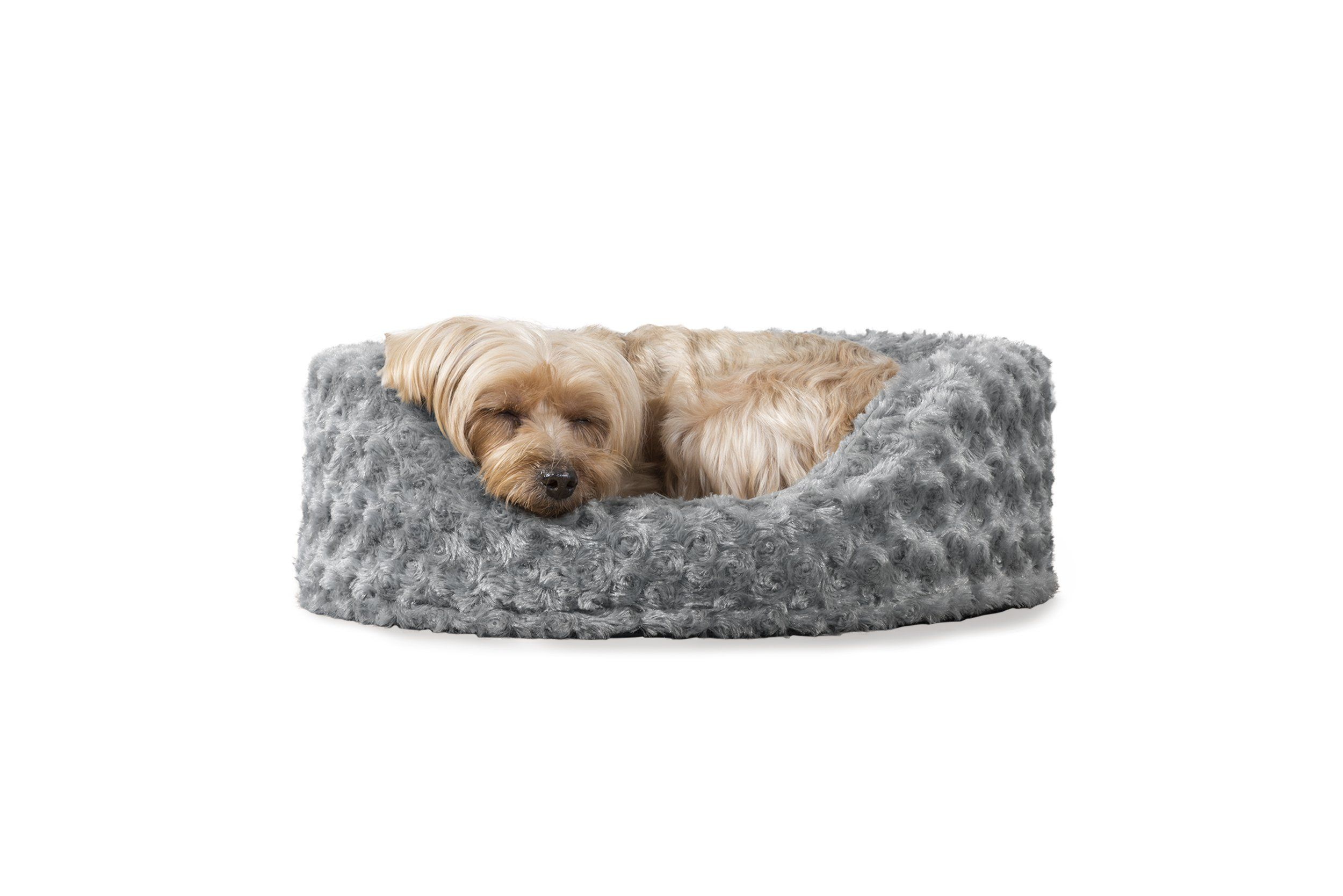 Furhaven Pet Dog Bed Oval Ultra Plush Pet Bed for Dogs and