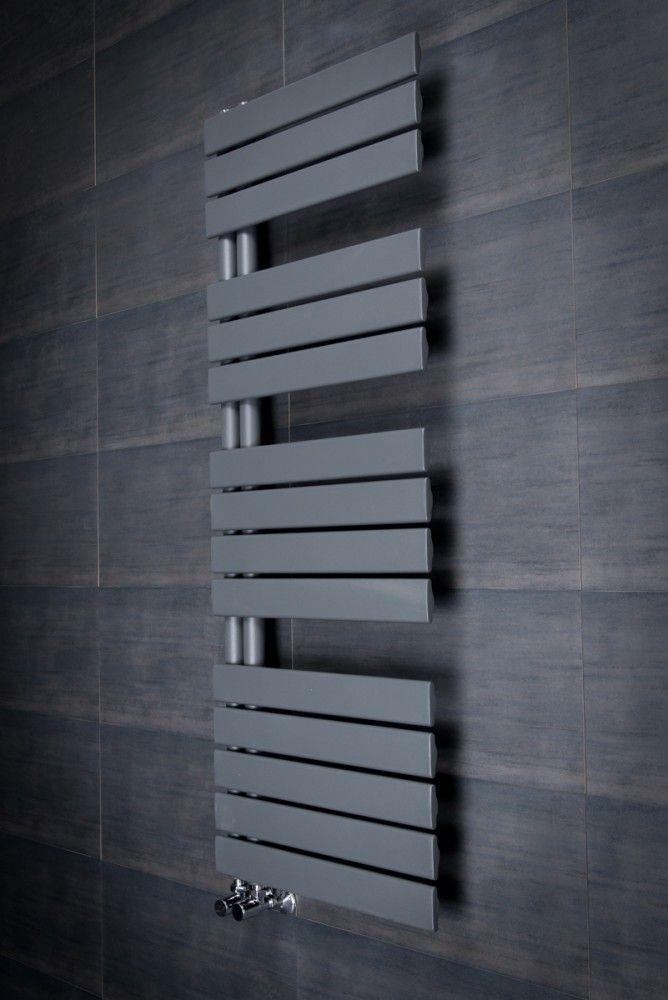 Kristiansund 1380 X 500mm Flat Sand Grey Designer Heated Towel Rail Bathroom Radiators Towel Rail Bathroom Towel Rails