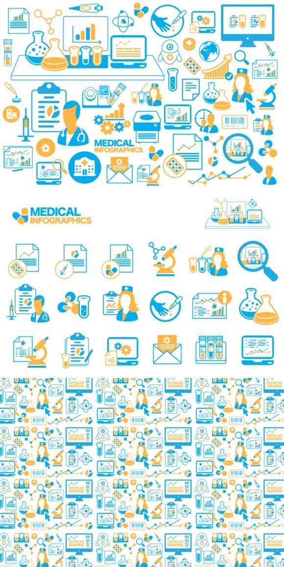 Medical Infographics veсtor icons Infographic