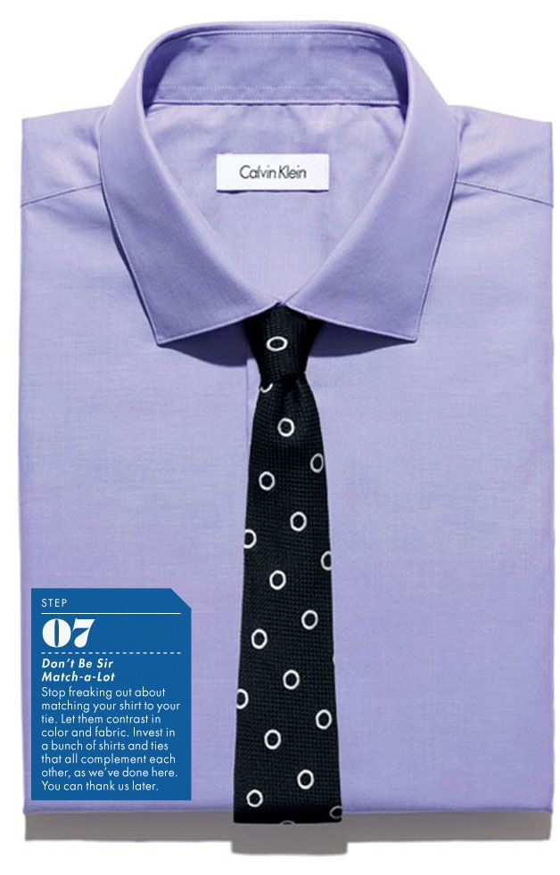 plain purple with contrasting tie