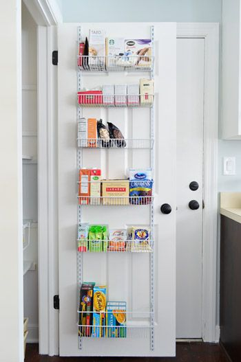 Behind The Door Pantry Shelves 35 Can Hook Over The Top Of The Door Or Be Installed Directly On Th Pantry Door Storage Pantry Storage Pantry Door Organizer