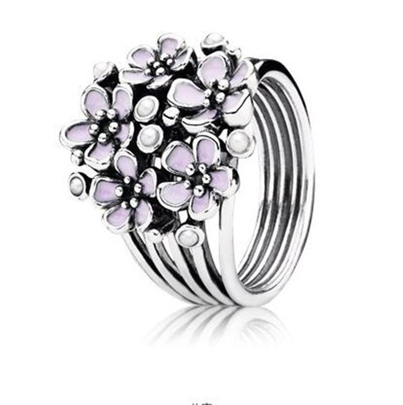 9fb3f3486 Women Fashion Jewelry 925 Silver Flower Wedding Engagement Ring Size 6-10