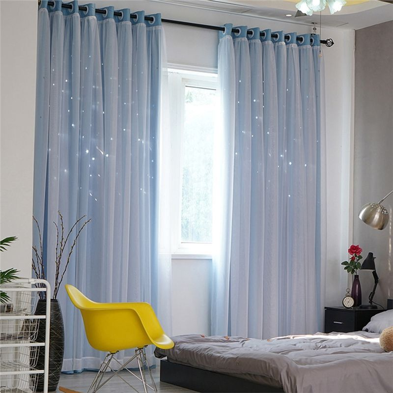 Curtains With Stars Romantic Blackout Window Curtains With Sheer For Living Room Bedroom Curtains Living Room Modern Curtains Living Room Windows #pictures #of #curtains #for #living #room