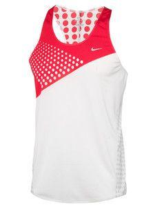 Zjednoczone Królestwo najnowsza zniżka najlepszy hurtownik Nike Mens Raceday Running Singlet Tank Top Shirt Red Large ...