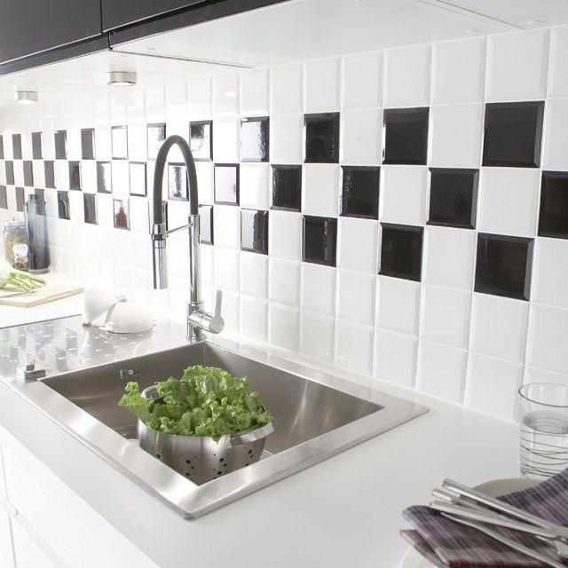 Carrelage Mural Blanc Metro 10 X 10 Cm Carrelage Mural Blanc Carrelage Mural Carrelage Mural Cuisine