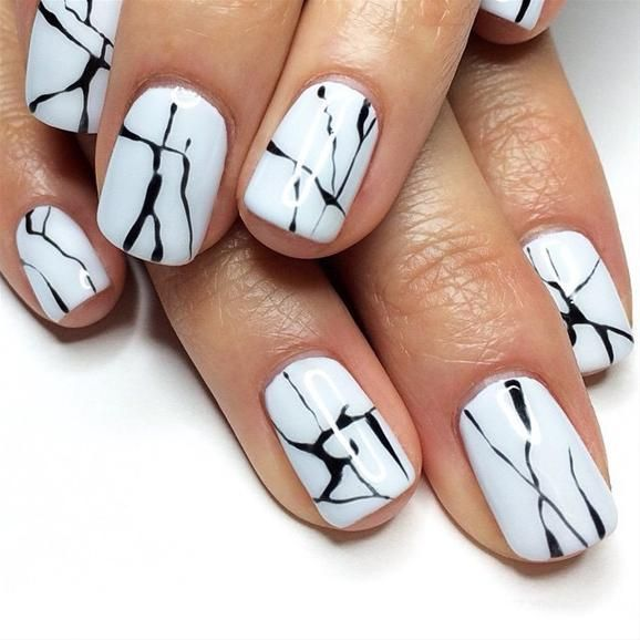 Nail art featured by @intothegloss. Black White ... - Nail Art Featured By @intothegloss Marble Nails, Marbles And Minimal