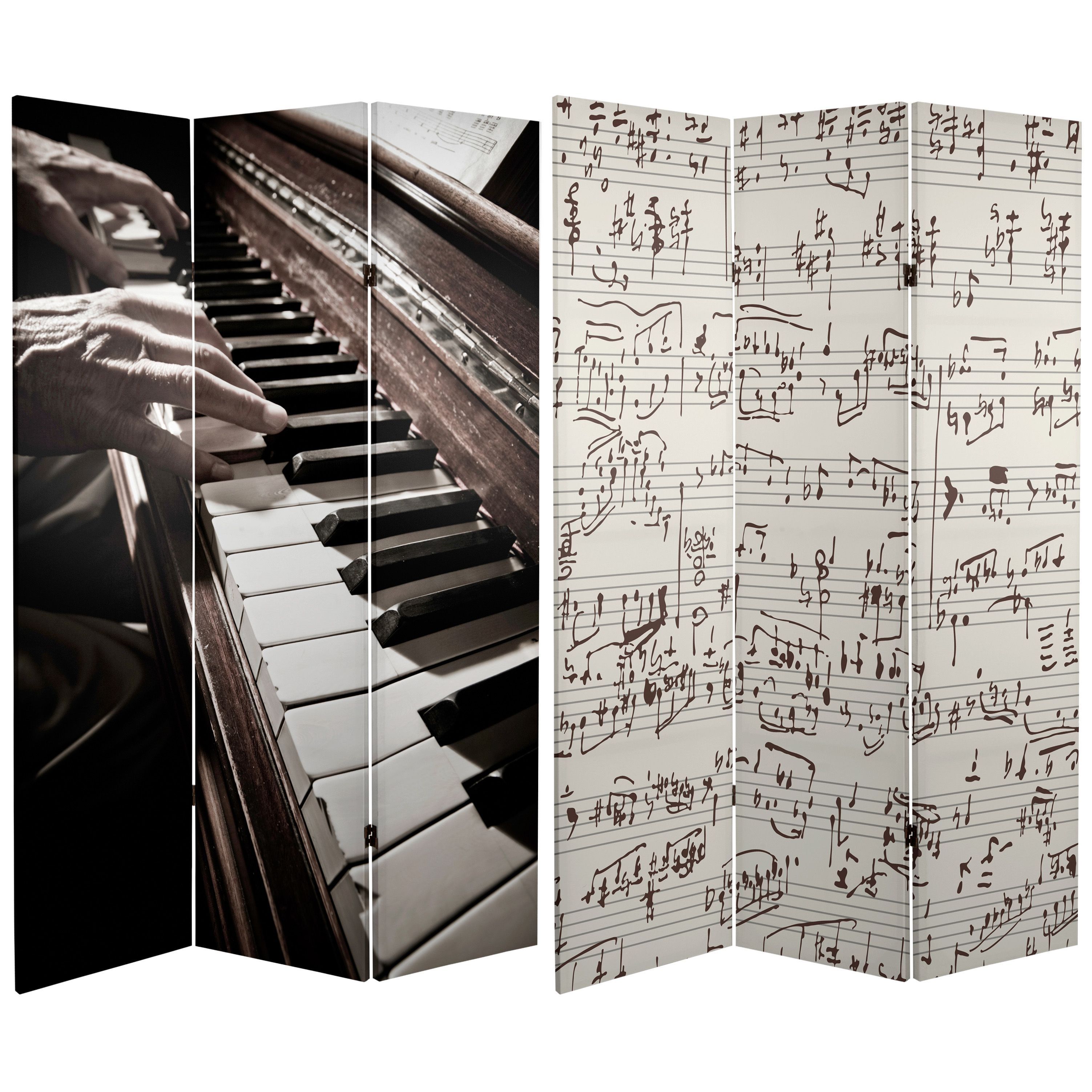 Tall Double Sided Music Canvas Room Divider  Wide Selection