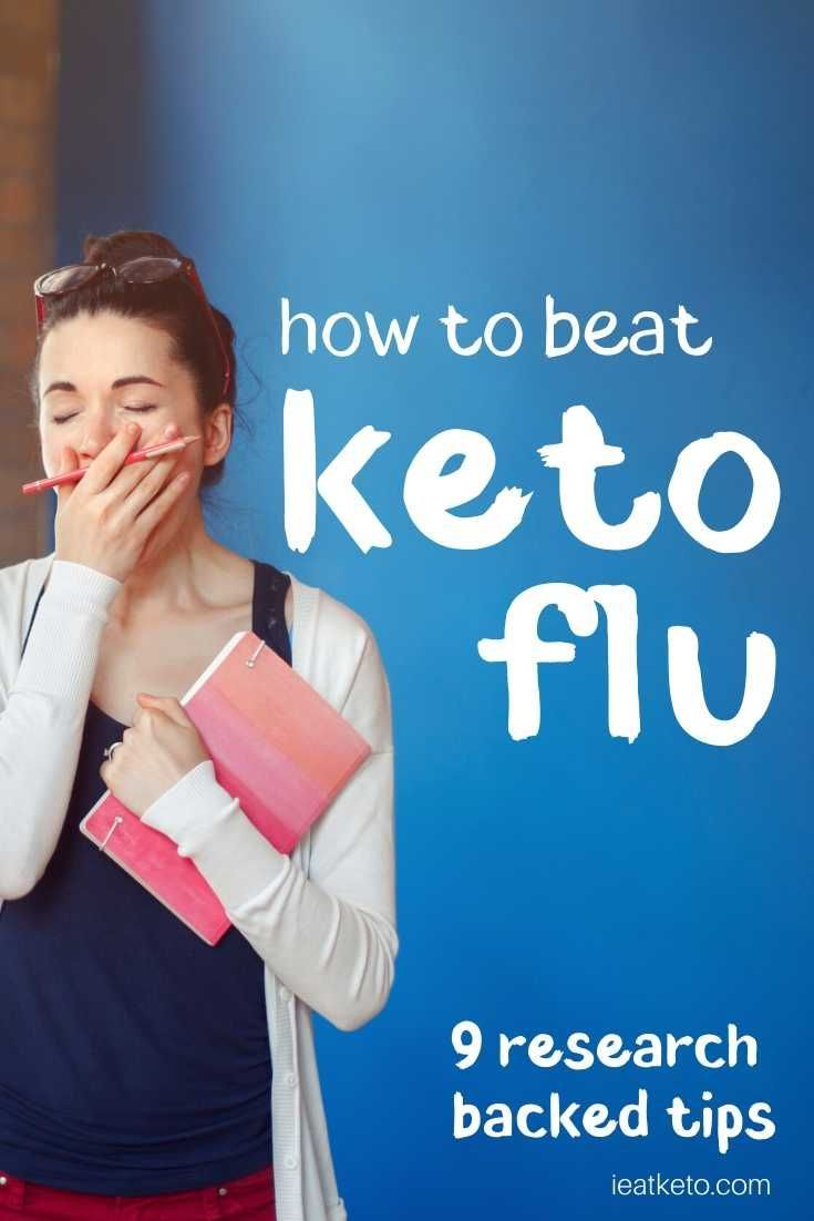 The infamous Keto Flu can be a real problem for some people starting a keto diet, but it doesn't have to be. Check out this keto flu guide for tips on how to cure keto flu and prevent it.  #keto #ketodiet #ketogenicdiet #lowcarb #lchf #diet #dietsforweightloss #ketosis #ieatketo #ketogenic #loseweightquick #cleaneating #ketoflu