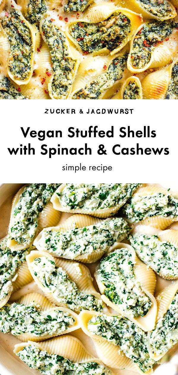Photo of Vegan Stuffed Shells with Spinach and Cashews – Zucker&Jagdwurst