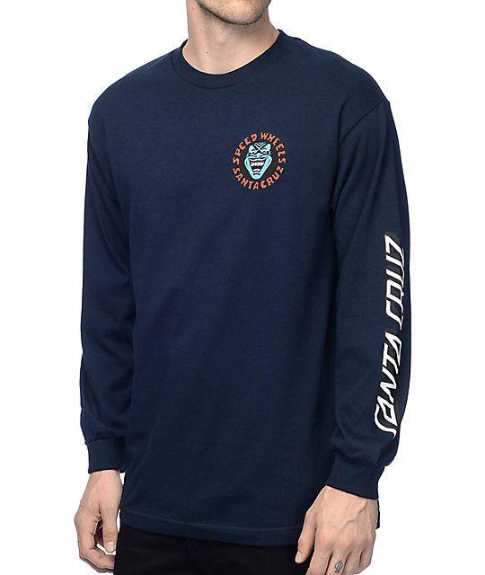 24ae27b6 Santa Cruz Screaming Hand Navy Long Sleeve T-Shirt in 2019 | Long ...