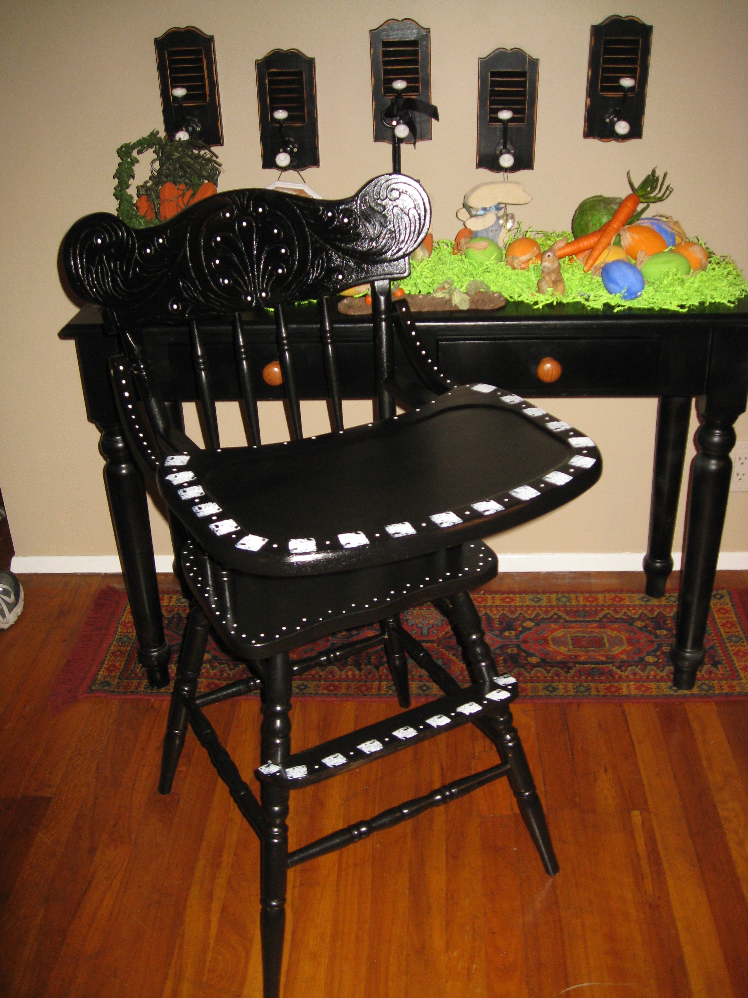 Vintage high chair made new kids pinterest vintage high