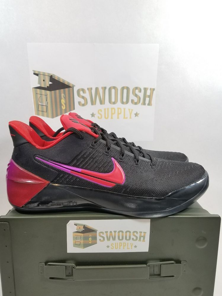 bbab596b056c NEW Nike Kobe A.D. FLIP THE SWITCH BLACK UNIVERSITY RED 852425-004 sz 10   Nike  KobeAD