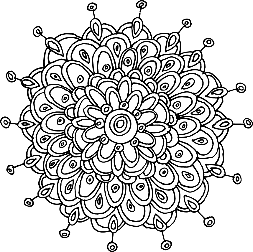 Free Printable Mandala Coloring Pages | Tags: flowers ...