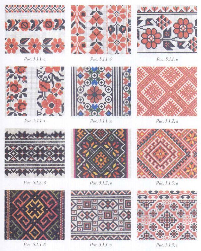 Схема для вышивки этнический узор