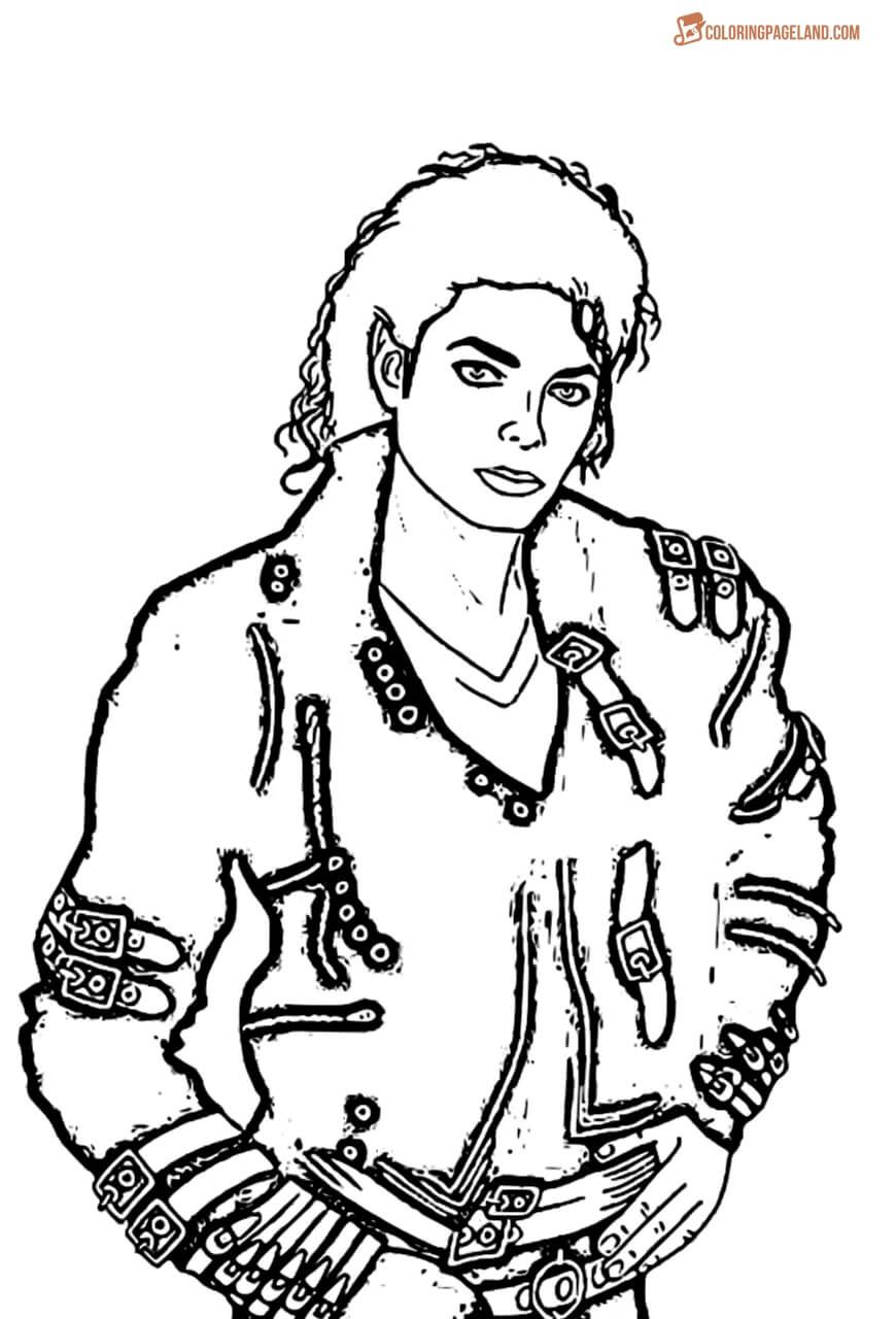 Michael Jackson Coloring Pages Free Printable Images Photos Of Michael Jackson Coloring Pages Coloring Books