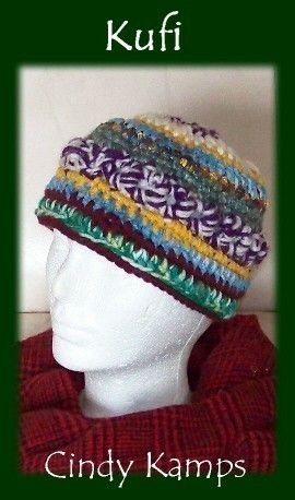 Crocheted Kufic Hat Patterns Kufi Hat 3 In 1 Crochet Pattern By