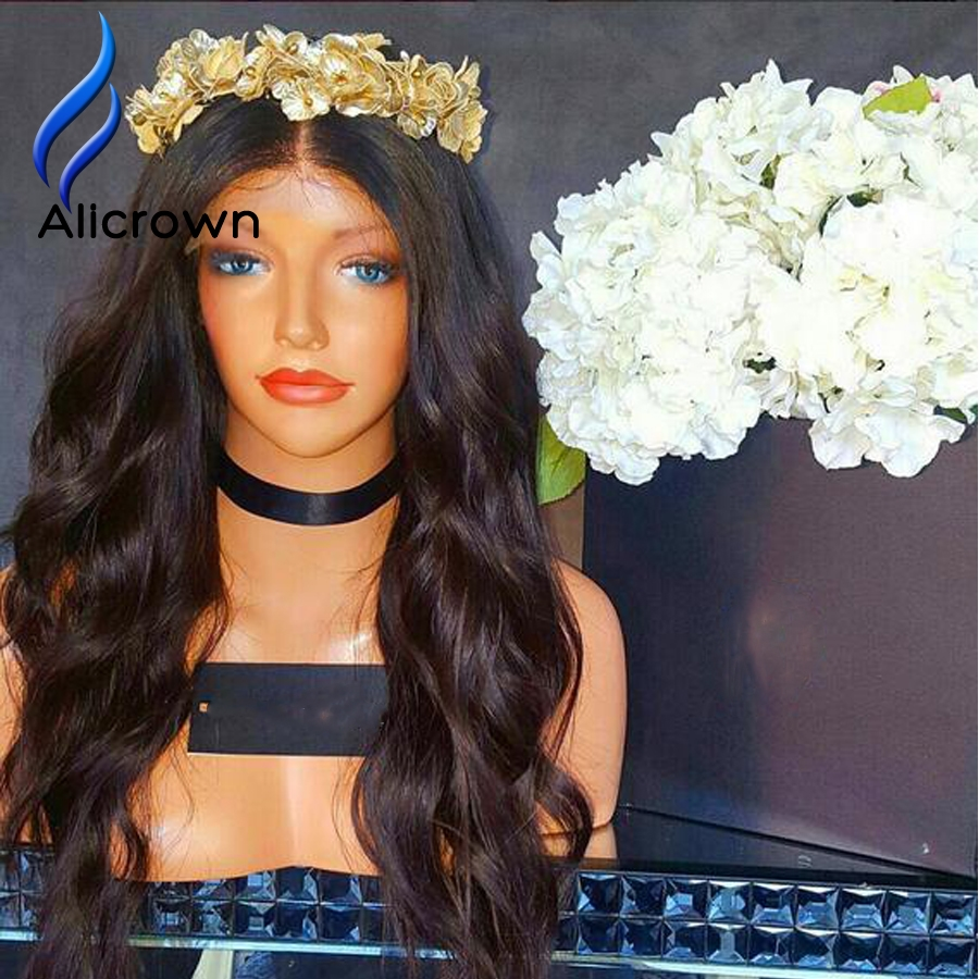 89.04$  Watch here - http://alibew.worldwells.pw/go.php?t=32791204593 - Brazilian Virgin Hair Lace Front Wig Full Lace Humana Silk Top Water Wave Full Lace Wig Human Hair Lace Wigs Natural Hairline