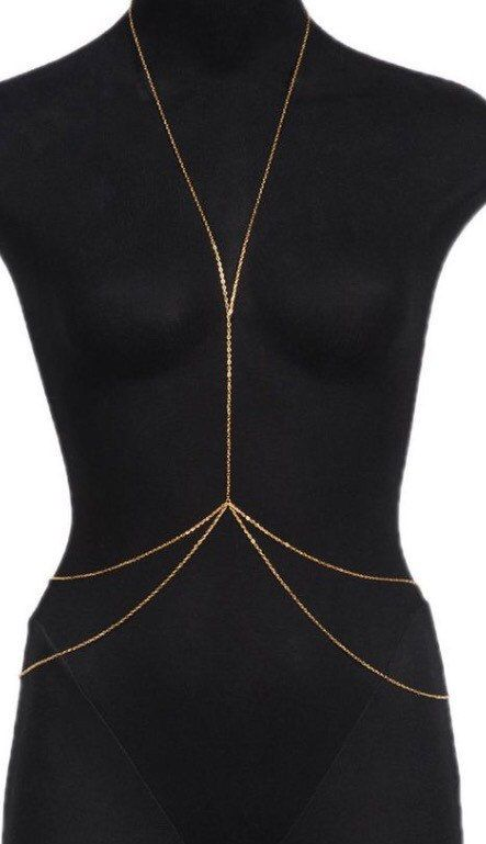 Double Gold Body Chain free shipping