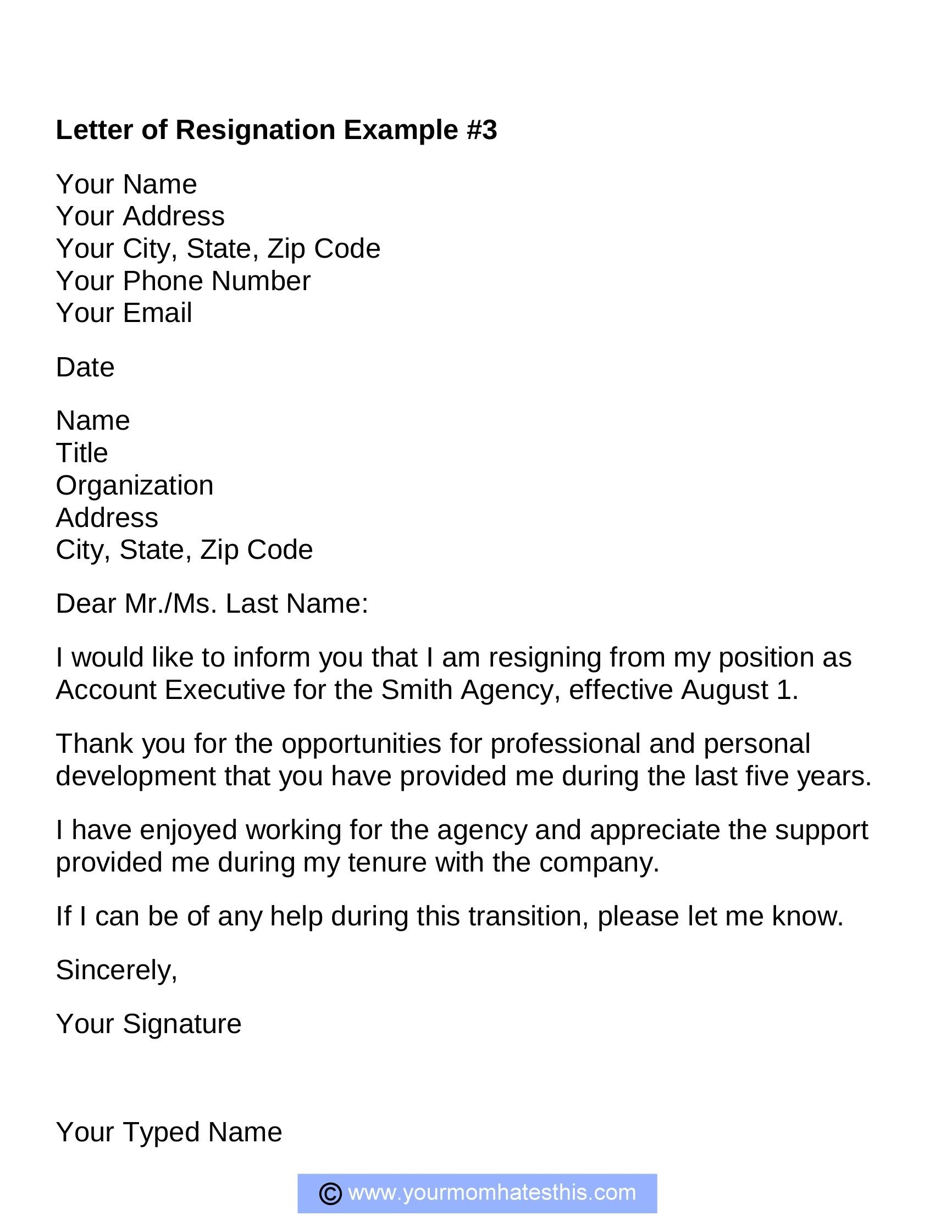 Re Resignation Letter You Should Experience Re Resignation