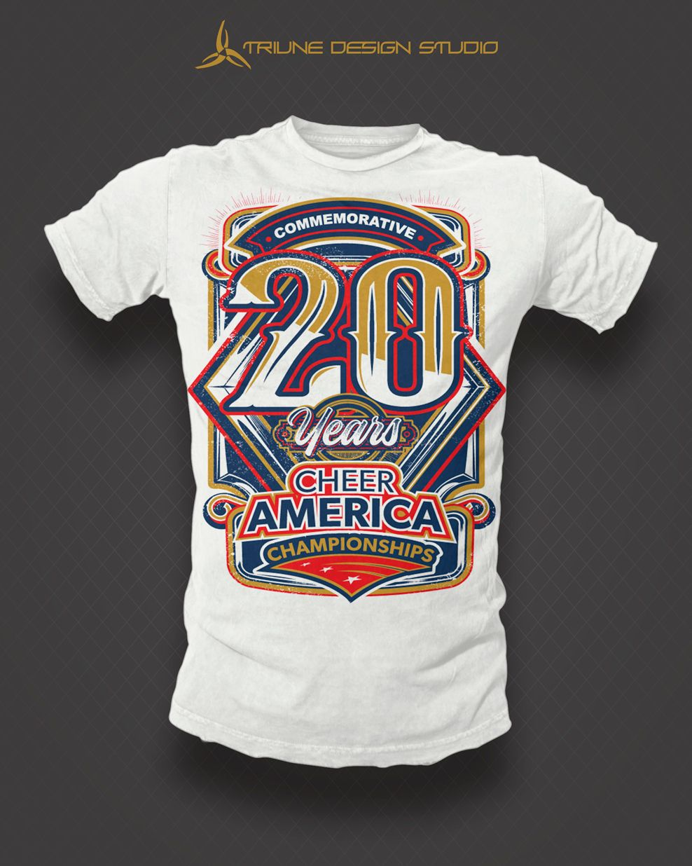 Cheer America 20th Anniversary Tshirt Design By Triune Design Studio