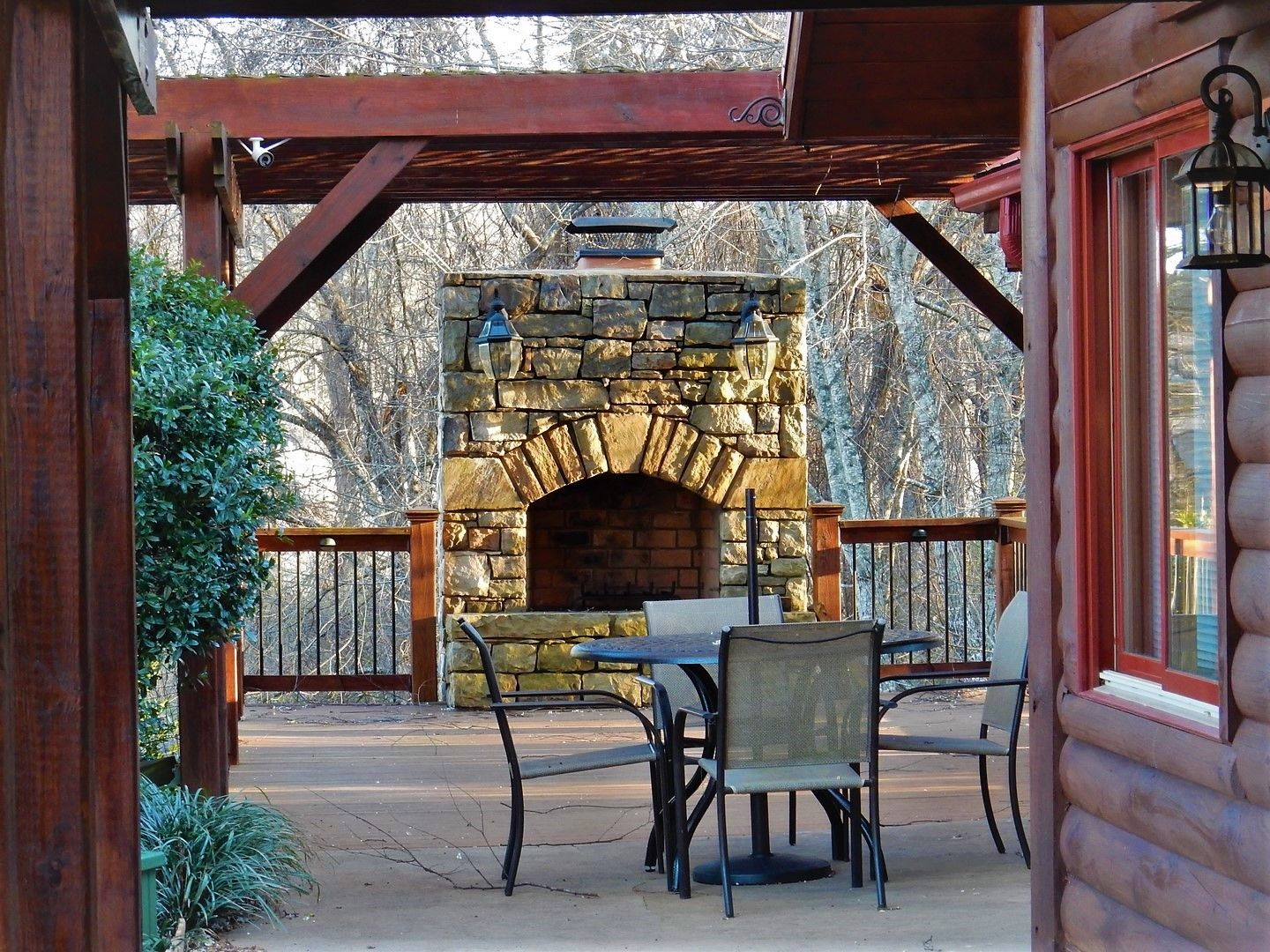 Best outdoor fireplace and resort amenities. Carolina