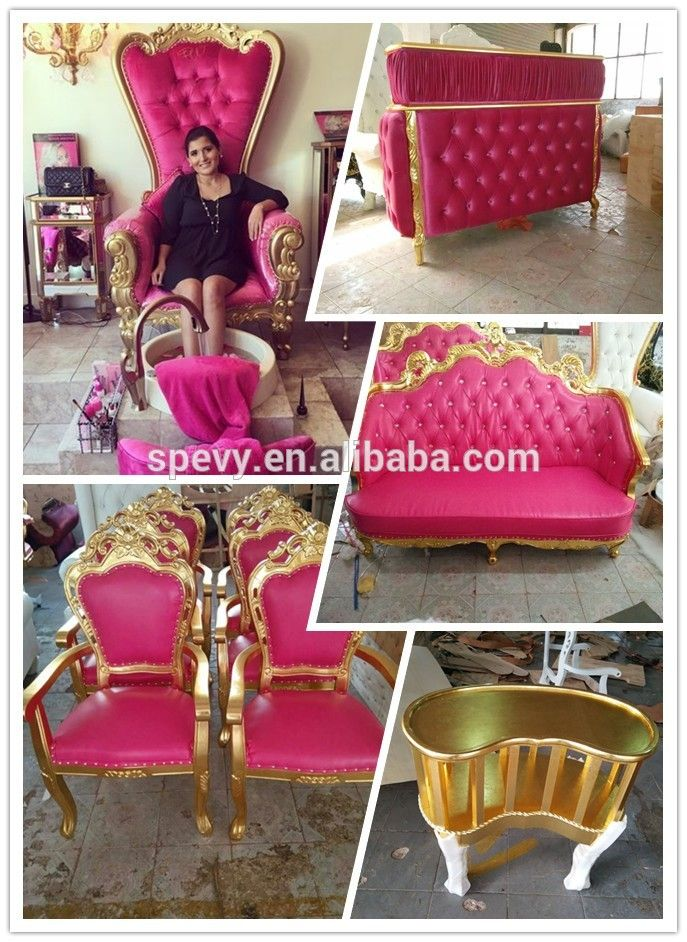 Pink Nail Salon Chairs Merry Walker Chair Throne Princess Pedicure Spewaybeauty Furniture Decor Small Folding