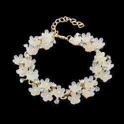 Rhinestone Simple Flower Design Bracelet For Women