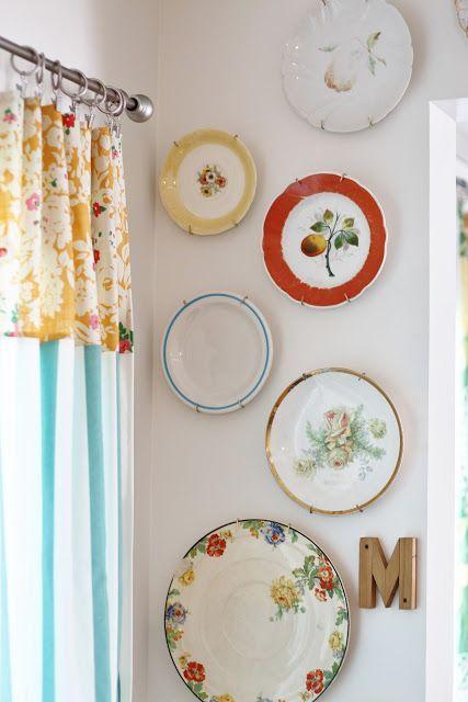 Come decorare le pareti con i piatti, un\'idea che arriva dal ...