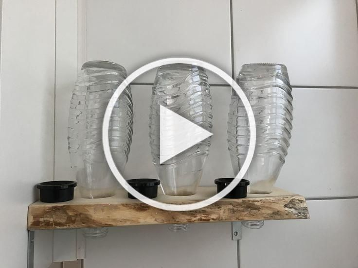 """New Free DIY bottle holder for soda stream made of wood for storage in the kitchen - DIY ideas  Strategies   A """"design"""" runs through the Websites and pages of this network earth: Ikea Hacks.  That is noth #bottle #DIY #Free #holder #Ideas #kitchen #soda #Storage #Strategies #stream #Wood"""