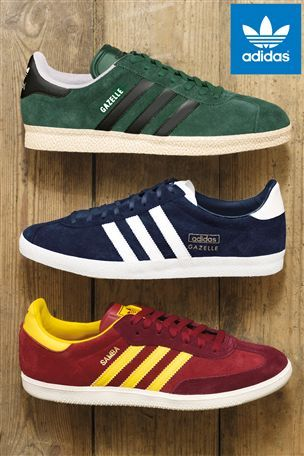 low priced a0538 e94ca Adidas Originals Navy Suede Gazelle Trainers
