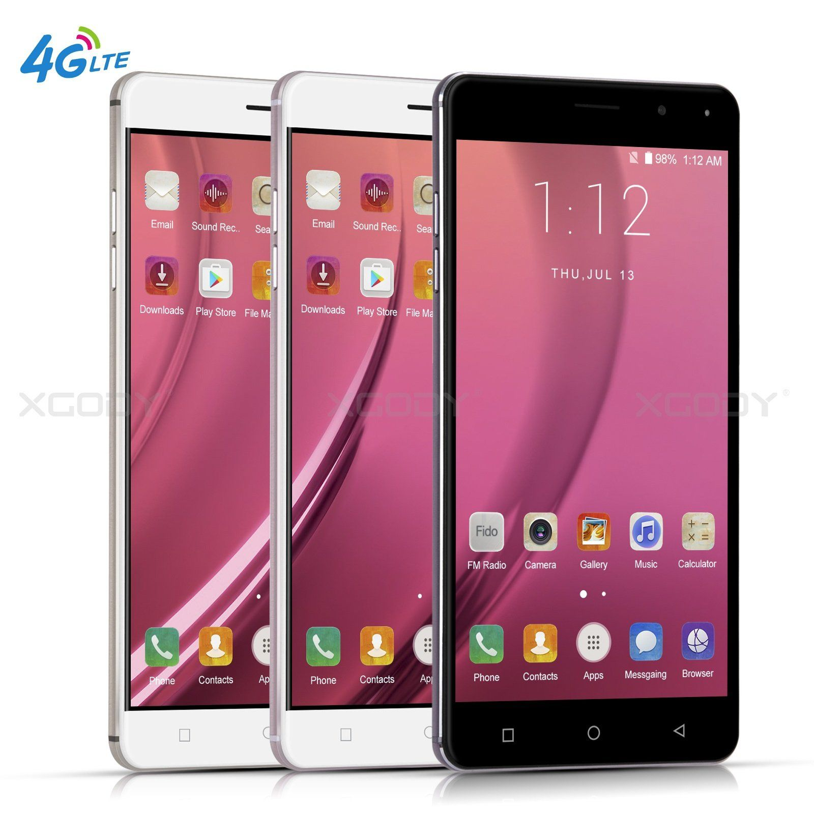 Android 7.0 Cell Phone 4G XGODY Y19 6 Inch Mobile Phones