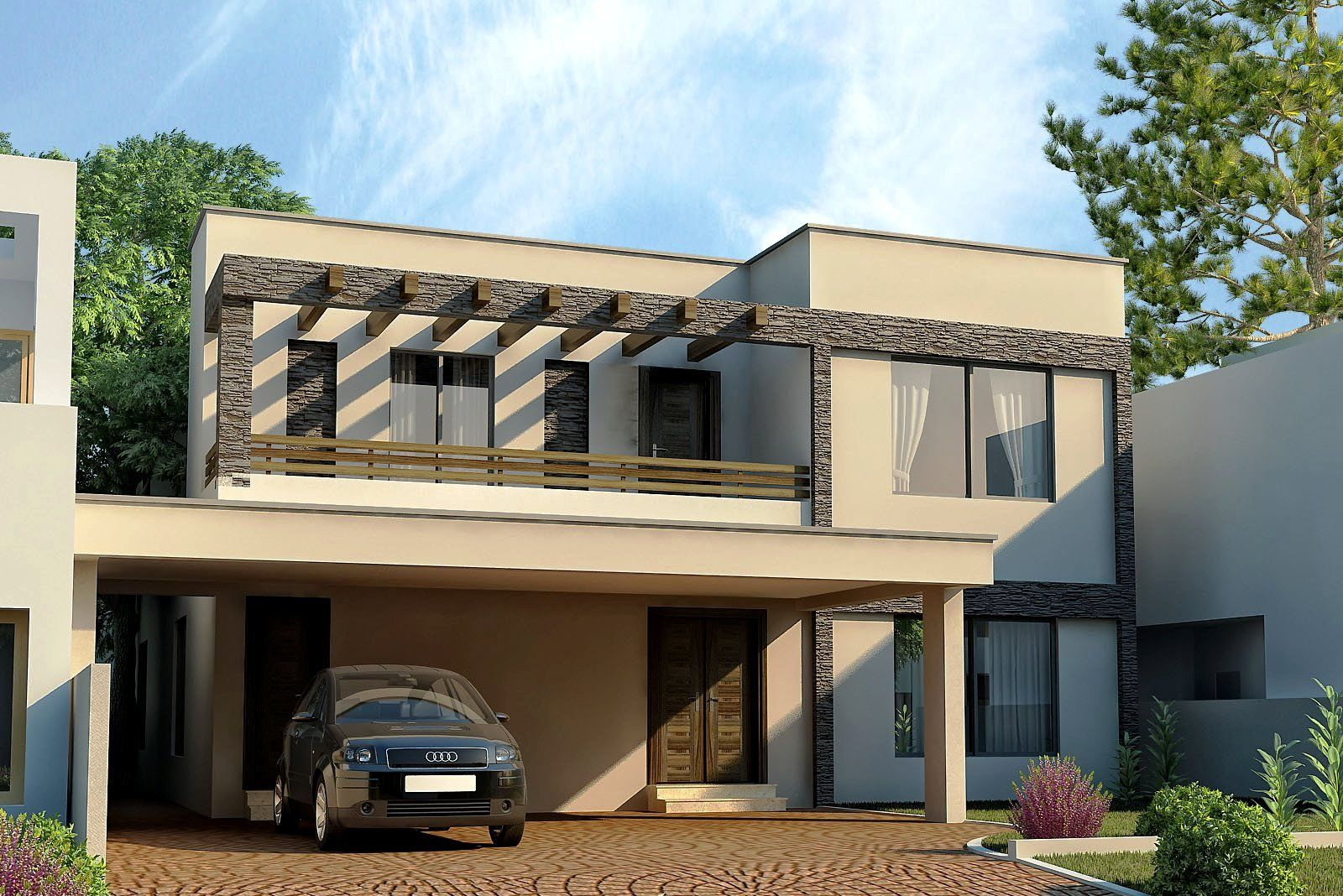 Futuristic House Front Design Before And After On Architectures Design Ideas House Front Design Duplex House Design Modern Contemporary House Plans