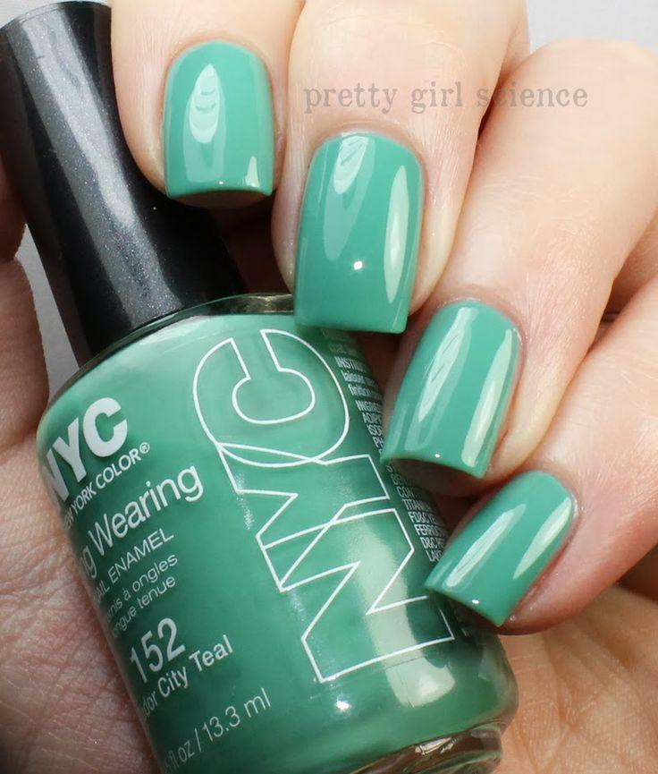 Pretty Girl Science: NYC Tudor City Teal   Nails   Pinterest   Nail ...